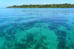 Transparent and calm waters Stock Photos