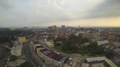 Malacca skyline Stock Footage