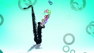 Stock Video Footage of Saxophone