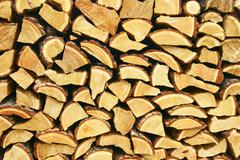 firewood of the larch - stock photo