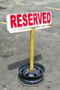 Reserved signpost - stock photo