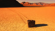Stock Video Footage of Magical Moving Rock of Racetrack Playa, Death Valley