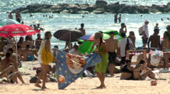 Young Teens on the Beach 5 Stock Footage