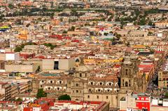 Aerial View of Mexico City Cathedral Stock Photos