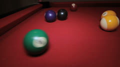 Billiards Pool Break Stock Footage