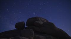 Time Lapse of Night Sky in Joshua Tree -  4K - 4096x2304 Stock Footage