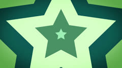 Green concentric stars growing Stock Footage