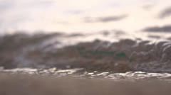 Slow motion waves on the shore of Lake Tahoe - stock footage