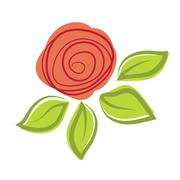 Stock Illustration of Abstract rose flower. Vector illustration