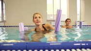 Stock Video Footage of Exercise in swimming pool