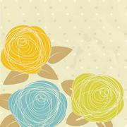 Abstract rose flower. Vector illustration Stock Illustration