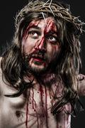 Representation of the passion of jesus christ Stock Photos