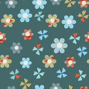Cute floral seamless background Stock Illustration