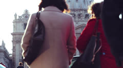 People walks in Saint Peter Stock Footage