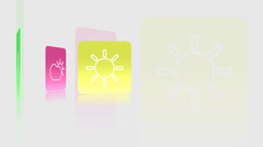 Color_Icons_VBHD0280 Stock Footage
