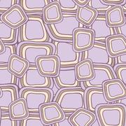 Seamless pattern with hand drawn  squares Stock Illustration