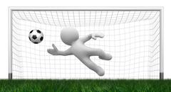 3d goalkeeper - stock illustration