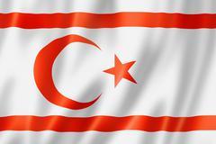 northern cyprus flag - stock illustration