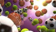 Stock Video Footage of Sports Ball Frenzy VBHD0302