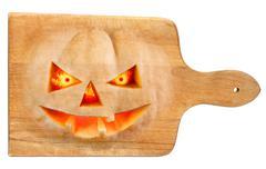 used halloween chopping board - stock illustration