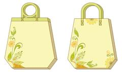 Tags with floral pattern Stock Illustration