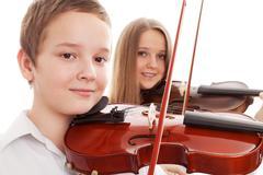 Violin duet Stock Photos