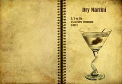 Dry martini recipe Stock Illustration