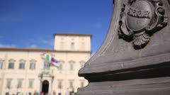 Rome, the Quirinal Palace, the official residence of the Italian President Stock Footage