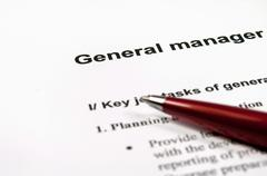 general manager job description - stock photo