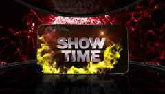 05 ball red showtime grid Stock Footage