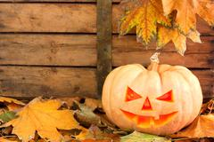 Halloween creepy pumpkin Stock Photos