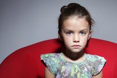Fashion beautiful little girl Stock Photos