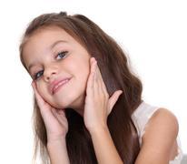 Stock Photo of portrait of pretty little girl
