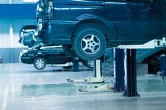Auto repair shop Stock Photos