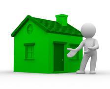 Green home - stock illustration