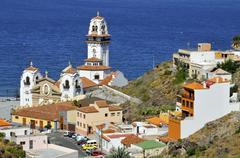 Town and basilica of Candelaria at Tenerife Stock Photos