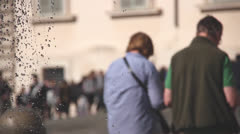 People in front of the Quirinal Palace,residence of the Italian President, Rome Stock Footage