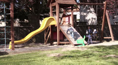 Playground kids Stock Footage