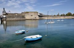 Boats at Concarneau in France Stock Photos