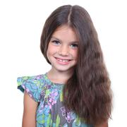 Stock Photo of closeup portrait of pretty little girl