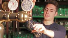 Draft beer - stock footage
