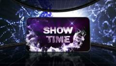 02 earth blue showtime grid Stock Footage