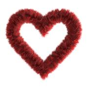 3d fur heart Stock Illustration