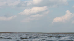 Water and clouds Stock Footage