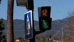 Ampelmannchen,  Pedestrian crossing, cross walk, Spain - stock footage
