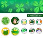 Stock Illustration of leaf clover in st.patricks day .vector is eps 10