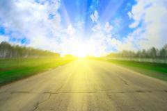 Tie ja aurinko Piirros