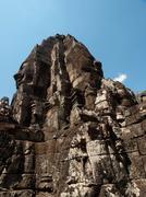 Bayon temple in angkor thom cambodia Stock Photos