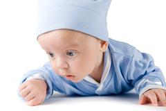 lying baby boy - stock photo
