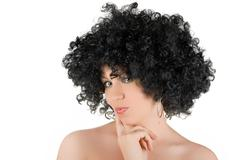Frizzy woman Stock Photos